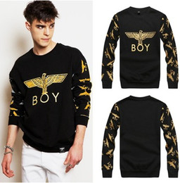 Wholesale Minicon boy london Golden eagle western union hot style cotton hoodies o neck long sleeve thin fleece inside winter sweatshirts