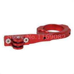 Wholesale Red Color Gopro GO PRO Hero BLACK HANDLEBAR BIKE Bicycle MOUNT CLAMP BRACKET EXTENSION METAL