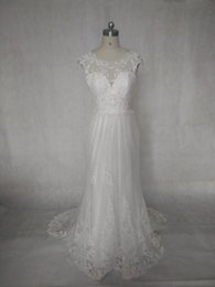 A Line Lace Sweetheart Wedding Dresses Capped Sleeves Vintage Bridal Gowns Court Train High-end Custom Made