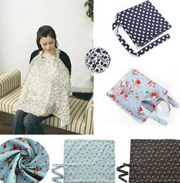 Wholesale Practical Baby Breast Feeding Covers Dot Flower Printed Nursing Covers for Feeding Baby in Anyplace