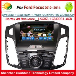 Pure Android 4.4.2 2012 2013 2014 1 din 8 inch car stereo dvd radio for Ford Focus car dvd player with GPS Navigation BT TV 3G WIFI AUX OBD2