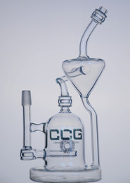 Wholesale CCG New arrival glass water pipes glass bongs glass recycler with matrix perc mm male joint