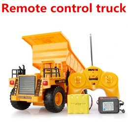 Wholesale Oversized toy car Wireless remote control dump truck tipper Channels Mine car RC Electric cars model toys