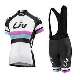 Wholesale 2015 Professiona Liv Cycling Jersey Short Sleeve Cycling Jerseys Bib None Bib Mountain Bike Jerseys Top Quality Bicycle Team Liv Lady Jersey
