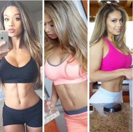 Wholesale 2015 Womens Padded Bra Top Athletic Vest Pants Gym Fitness Sports Yoga Apparel
