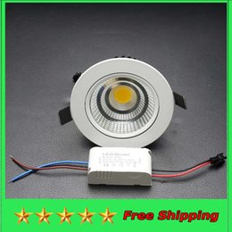 Wholesale COB LED Downlight w w w Epistar Dimmable Recessed Down Light Ceiling Living Room LED Lamp Driver Warranty years LED Lights