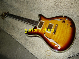 NEW 2015 Yellow F hole Reed Smith Electric Guitar Tiger flame top from china OEM guitar Free Shipping