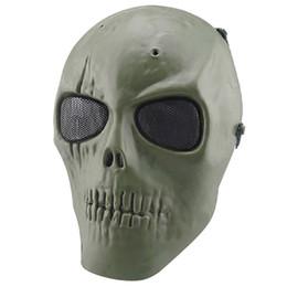 2017 proteger a paintball Cara del juego del cráneo del mayor-Nueva Hotsale de la promoción del Ejército del Reino Unido Esqueleto de Airsoft Paintball pistola BB Proteger completa Máscara Segura proteger a paintball promoción
