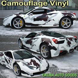Wholesale Black White Snow Arctic Camo Vinyl Camouflage Vinyl Film Car Wrapping Foil Camouflage Film Truck Vinyl Wrap m roll