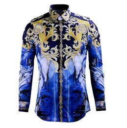 Men's High End Designer Clothing Wholesale Luxury Casual Print Slim Fit