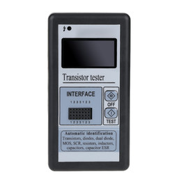 Wholesale New Arrival Multi functional LCD Backlight Transistor Tester Diode Thyristor Capacitance ESR LCR Meter with Grey Plastic Case E0346