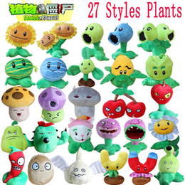 Wholesale 27 Styles Plants vs Zombies Plush Toys cm Plants vs Zombies Soft Stuffed Plush Toys Doll Baby Toy for Kids Gifts Party Toys