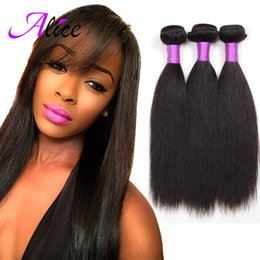 Wholesale Brazilian Peruvian Malaysian Indian Virgin Hair Straight Certified Grade A Human Hair Weaves Alice Hair Days No Reason return