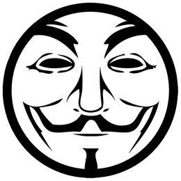 Wholesale Car Stickers Vinyl Car Truck Window Sticker Wall Laptop Decal Anon Mask
