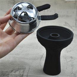 Wholesale pc New one hole Silicon Shisha Hookah Bowl pc Charcoal Holder Head Charcoal Stove Burner Keeper Heat Management System