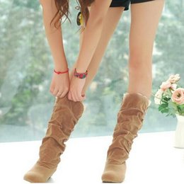 2019 new fashion Spring Autumn casual shoes princess sweet women boot stylish flat flock shoes fashion Mid-calf boots
