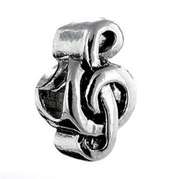 10 pcs per lot metal Bead Cheap Music Notes Lucky European Charm Spacer Fit Pandora Bracelet