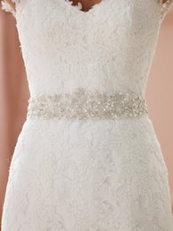 2017 Custom Made Bridal Sashes Wedding Belts White Ivory Accessories Long Pearls Rhinestone Crystal Beaded For Party Evening Sash Cheap Sexy