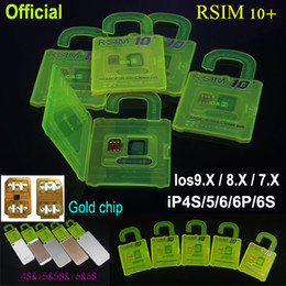 Wholesale R SIM R SIM RSIM Rsim10 Unlock Card for iphone s S S ios X G G CDMA Sprint AU Softbank s direct use no Rpatch