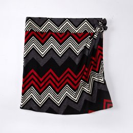Wholesale Casual Skirt Designs For Women - Newest Fashion Design Women Lady Casual Winter Skirts For 2016 Pencil Skirt Zig Zag Print In Red