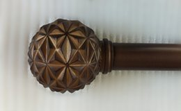 Wholesale Vintage Bronze inch Matel Drapery Curtain Rod with Pretty Poly Resin Finial inch length