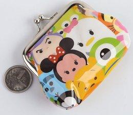 2017 mickey bourse 150pcs TSUM TSUM bouton de fer portefeuille 2015 dessin animé Mickey Minnie Mouse porte-monnaie mini-sacs à main créative sacs shell enfants cadeaux 201508HX mickey bourse promotion
