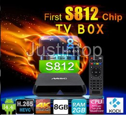 Wholesale M8C Amlogic S812 K Android Smart TV Box Bein Sports Movies Google Play App Store Download Free Stream Full HD Live IPTV HDTV KODI Preloaded