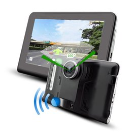 Wholesale 7 inch GPS Navigation Android Car DVR Anti Radar Detector Recorder camcorder FM WIFI Truck vehicle gps Built in GB Free Map