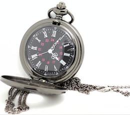 Wholesale black classic Roman Pocket watch vine pocket watch Men Women antique models Tuo table watch PW028