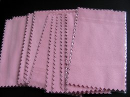 Silver Polishing Cloth 10.5*6.5cm Rub silver cloth for 925 sterling silver Jewelry Green and blue pink free shipping
