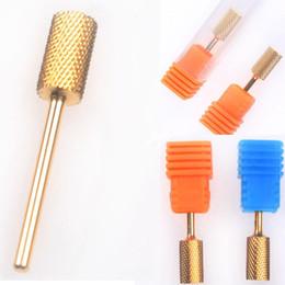 Wholesale-407-3 Size Electric Cylinder File Drill Bit Nail Art Manicure Pedicure Tool Set