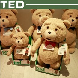 Wholesale 2016 Hot Cheap Movie Ted Plush Talking Ted Bear Toys CM Soft Stuffed Animals High Quality Talking Soft Pkush Ted Bear Dolls