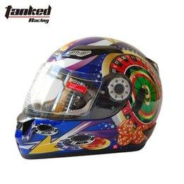 Wholesale tanks dual lens Baccarat motorcycle helmet racing helmet