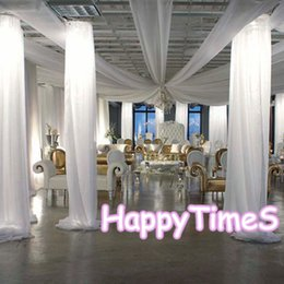 Wholesale 10pcs Each Size MWedding Decoration Luxury Stripes Cloth Ice Silk Fabric White Wedding Roof