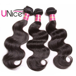 UNice Hair Body Wave Indian Human Hair Bundles 8-30inch Unprocessed 1Piece Natural Color Hair Extensions Non Remy