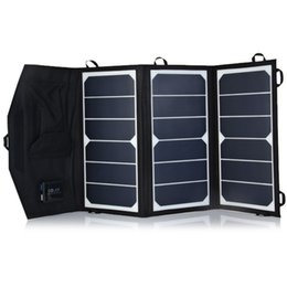 Wholesale 20W High Efficiency Sunpower Solar Charger Pack Foldable Portable Solar Panel Charger Pack for ipad iPhone Samsung Android Device