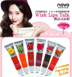 Wholesale Women ally NOVO tearing type Peel off lip gloss tearing lip film lasting makeup magic lipstick colors g By DHL