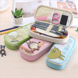 Cute Cartoon Totoro Large Capacity Pencil CaseStationery Gifts Office School Supplies Children Oxford Cloth Stationery Bags