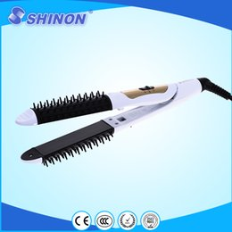 Wholesale Shinon hair straightener with anti static combs professional hair care tools