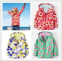 2016 Girls Jackets Flower Trench Outerwear for girl Kids coat Children clothing Raincoat Spring Girls Jackets & Coats