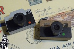 Wholesale-Freeshipping! NEW Small vintage LOMO Camera wood stamp   Decorative   DIY funny work great gift Wholesale