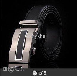 Wholesale Send free worldwide fashion men s belts men s business leather belt buckle automatically WS4007 Cintos cinturon