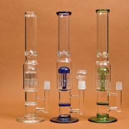 Percolator Glass Hookah 9 Arm Honey Comb Disk Glass Bong two Functions with Bowl and Oil Rig