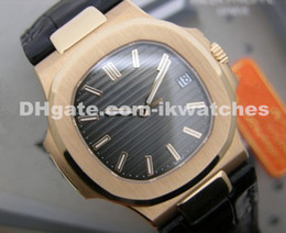 High quality men watch luxury automatic watches rose gold leather strap wristwatch 010