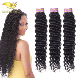 Wholesale Price Peruvian Deep Wave 1 Bundle Peruvian Human Hair Brazilian Indian Malaysian Mogolian Hair Weaves Virgin Hair Bundles