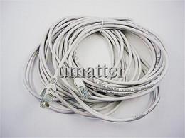 5M   10MCAT 5 RJ45 Ethernet Network Cable Patch Cable White Cable 50pcs lot
