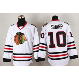 Wholesale Blackhawks Patrick Sharp White Hockey Jersey Superior Quality Training Uniform New Style Mens Athletic Apparel Cool Hockey Wear for Sale