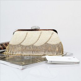 Factory Retaill Wholesale brand new handmade vogue diamond evening bag beaded bag with satin for wedding banquet party porm