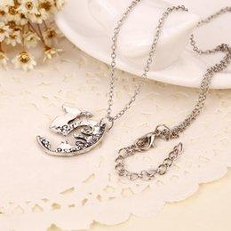 Wholesale 2016 Unisex Lover s Vintage Silver Tone Deer Camel Charm Pendant Chain Necklace Girlfriends Gifts Drop ShippZJ