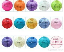 Wholesale 100Pcs cm inch mix color round paper lantern wedding lantern festival decoration Best Selling in stock